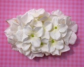 RESERVED Beautiful cream white hydrangea hair comb vintage rockabilly style wedding 40s 50s pin up bride hairflower haircomb boho