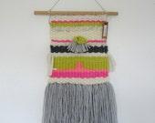 Weave Woven Wall Hanging Weaving Cream Grey Nursery Decor