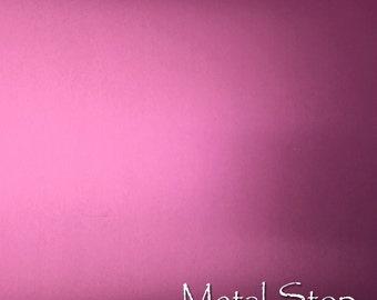 "Anodized Aluminum Sheet - 6"" x 6"". 24 Gauge. Bubblegum Pink. 0.020"" thick. Alloy 5005."