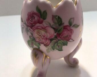 Porcelain Napcoware Footed Egg Shaped Planter Vase