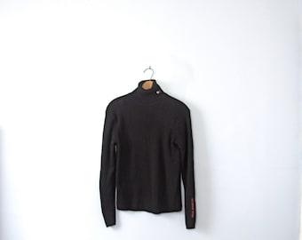 Vintage 90's Ralph Lauren black turtleneck sweater, women's size small