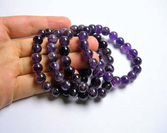 Amethyst  - 10mm round beads - 19 beads - 1 set - Ab quality - HSG71