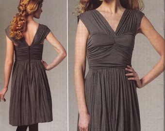 2011 Tracy Reese Twist Front Dress Pattern Vogue 1253  Vogue American Designer OOP Vogue Pattern UNCUT, Factory-Folded Multi-Sized 12-18
