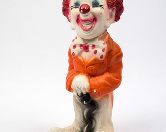 Vintage Chalk Ware Clown Bank Summer Sale