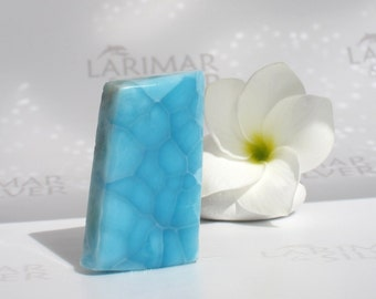AAA Larimar slab from Larimarandsilver - electric blue Larimar stone, turtleback, Atlantis stone, pool pattern, handmade Larimar supply
