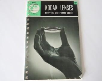 Kodak Lenses Shutters and Portra Lenses, Vintage Kodak Data Booklet Photography How To, 1950s