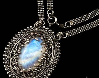 The Passengers Pendant - Moonstone and Silver