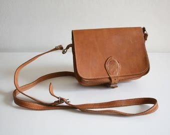 Light Brown Buckle Satchel