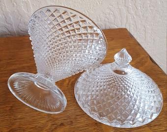 Westmoreland English Hobnail Clear Candy Dish  - Wedding - Oak Hill Vintage