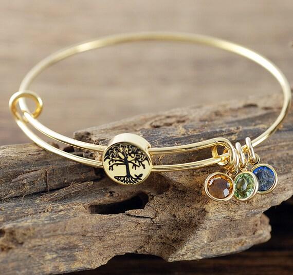 Grandmother Bracelet Personalized Birthstone Bracelet Tree