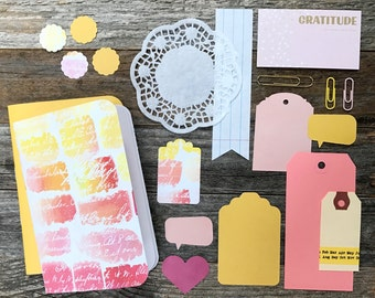 Speech Bubble Planner Inserts . Set of 2 . Red Pink Yellow Field Notes Pocket A6 . Chic Sparrow Foxy Fix TN Travelers Notebook Midori
