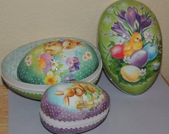 German 3 Easter Nesting Nestler Paper Eggs
