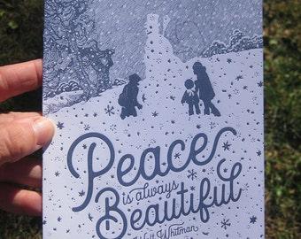 Peace is Always Beautiful Letterpress Card