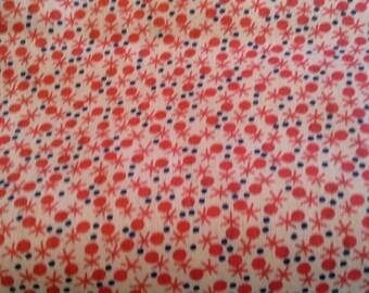 Mid Century Modern Starburst Print Vintage Cotton Fabric 3 1/4 Yards X0847 Quilting Cotton, Apparel, Clothing