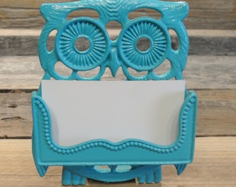 Business Card Holder, Owl Business Card, Owl Card Holder, You Pick Color