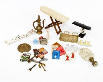 Vintage Dollhouse Miniature Lot of 31 Housewares and Home Decor