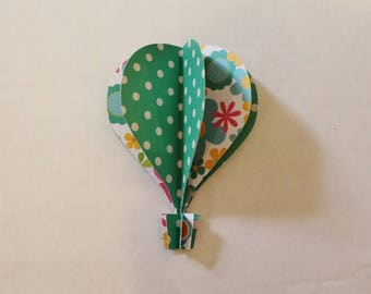 5 inch 3d balloon  teal  pink white polka dots floral
