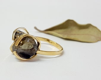 Tanzanite Ring, Raw Stone Ring, Raw Tanzanite Ring, Unique Gift Ideas, Rough Stone Ring, Stone Jewelry, December Birthstone Ring