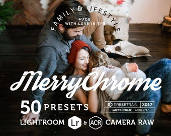 Merrychrome Preset Pack - 50 family, lifestyle christmas & new year presets for Adobe Lightroom and Adobe Camera Raw - Photoshop presets