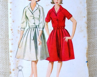 1960s dress pattern, shirtwaist pattern, vintage sewing pattern, Butterick 3364, bust 32 pattern, shirtwaist dress, vintage dress pattern