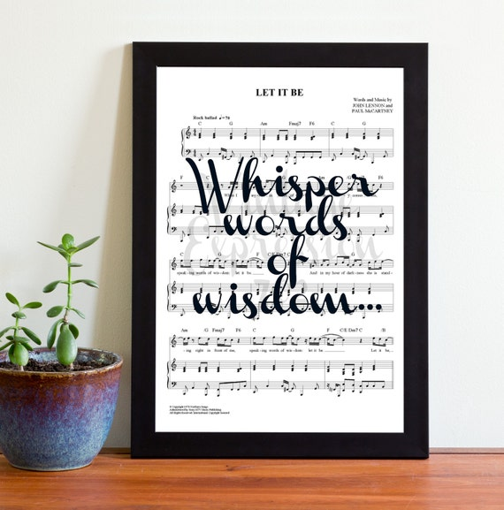 The Beatles Let It Be Whisper Words Of Wisdom Song Music