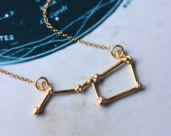 Ursa Major Constellation Necklace, Gold vermeil constellation Necklace, Big Dipper necklace, star jewellery