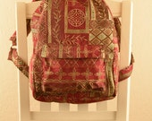 Red Italian Quilt Backpack
