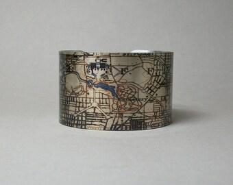 Cuff Bracelet Buffalo New York Map Unique City Hometown Gift for Men or Women