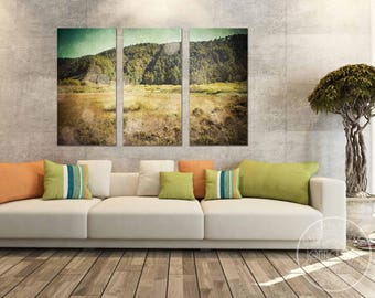 triptych wall art - big basin redwoods state park - california wall art - triptych canvas