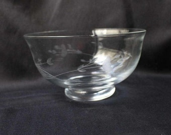 Princess House Heritage Bowl Clear Crystal #445