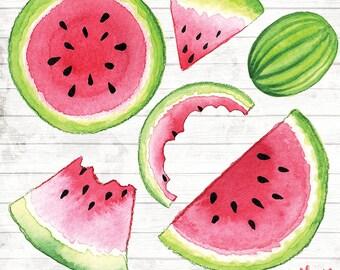 Watermelon Clipart Clip Art Commercial Use - Vector Graphics - Fruit Digital ClipArt - Digital Image - Watermelon print Download - ACGA07