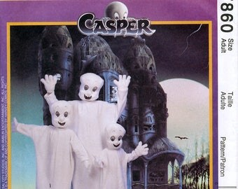 McCall's 7860 Sewing Pattern for Adults' Casper Costume - Uncut - Size Adult Small, Medium, Large and X-Large