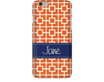 Monogram iPhone 7 Plus * 7 * 6/6S Plus * 6/6S * SE premium squares phone case personalized with name or initials