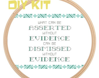 DIY KIT: Evidence funny cross stitch kit