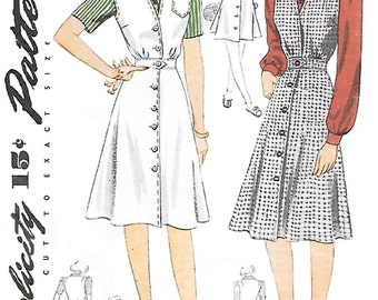 Simplicity 4333 Womens 40s Blouse Jumper Tennis Dress Sewing Pattern Bust 32
