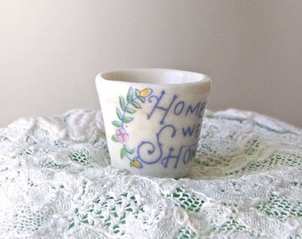 Vintage Thimble Home Sweet Home Thimble Collector Sewing Room Thimbles Vintage 1980s