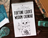 2017 Fortune Cookie Wisdom Calendar, Wall calendar 2017, 2017 calendar, funny calendar, illustrated calendar, gifts for friends, food lover