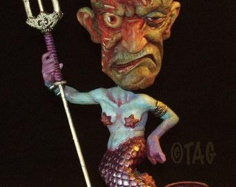 Metallic Purpletail Mermaid Ornament Standie by Tom Taggart
