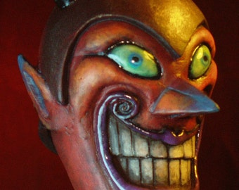 Handpainted Grinning Devil Ornament by Tom Taggart