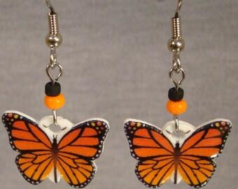 Butterfly Dangle Earrings - Monarch Jewelry - Whimsical Jewellery