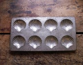 Vintage French Shell Shaped Madeleine Cookie Baking Pan - Made in France