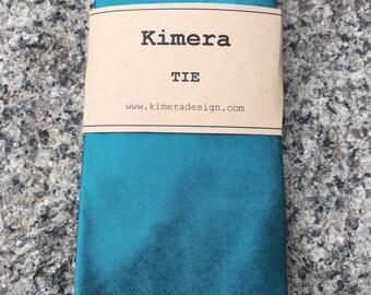 Turquoise Silk Shantung Necktie