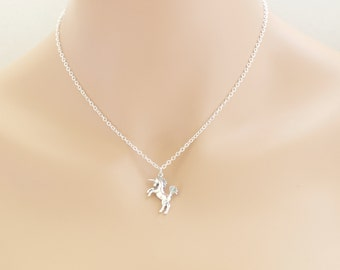 Unicorn Necklace, Unicorns, Unicorn Gift, Fairytale Necklace, Unicorn Pendant, For Her, Sterling Silver, Unicorn Jewelry, Unicorn Horse