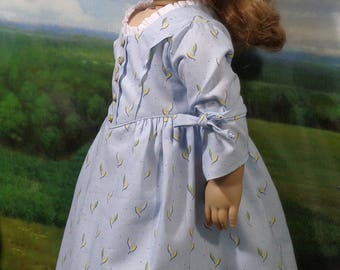 Pale Blue Colonial Dress for 18 inch Girl Dolls like Felicity