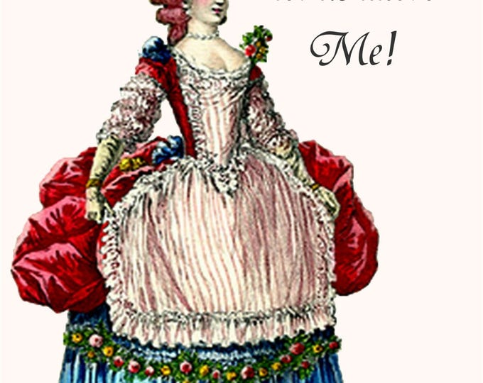 Marie Antoinette Card ~ O Come, Let Us Adore Me! ~ Christmas Card ~ Funny Postcard ~ Pretty Girl Postcards ~ Funny Quotes ~ Happy Holidays