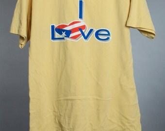 Medium Vintage Yellow USA T Shirt | 6AA