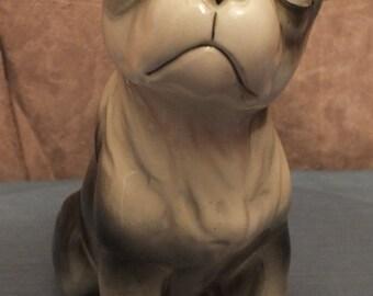 Boston Terrier Dog Figurine Large Vintage Dog Figurine