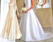 Sewing Pattern Vogue Bridal Original 2788, Wedding Gown Fitted Empire Dress Train Women Miss Size 18 20 22 Bust 40 42 44 Uncut Factory Folds