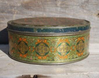 Vintage Asco Decorative Cookie Tin
