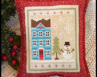 Snow Place Like Home 1 Christmas cross stitch pattern by Country Cottage Needleworks at thecottageneedle.com December